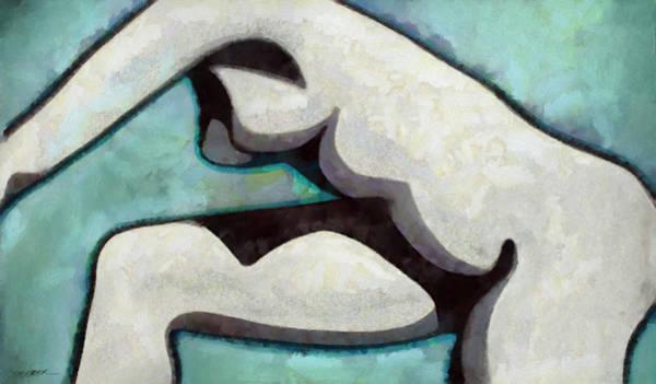 Contrast Digital Art - Shadowed Form by Cynthia Decker