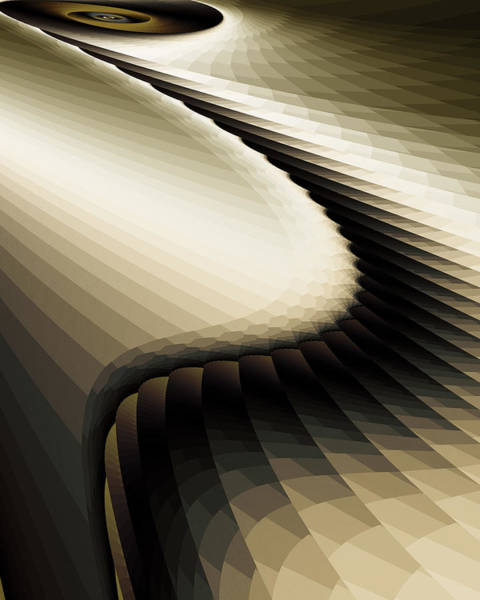 Fractal Landscape Digital Art - Shadowlands 1 by Vic Eberly