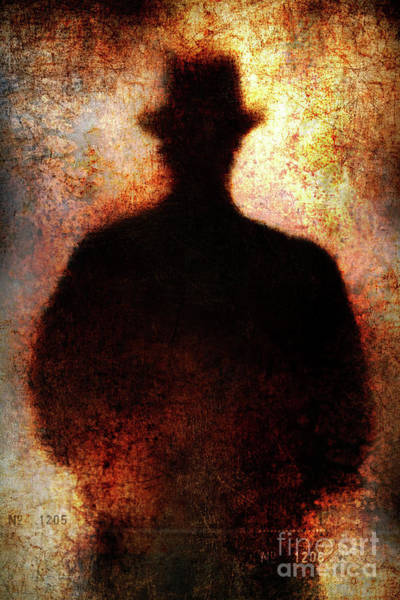 Photograph - Shadowman With Hat by Clayton Bastiani
