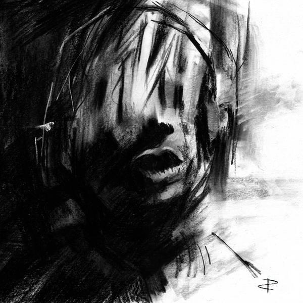 Interpret Drawing - Shadows 1 by Paul Davenport