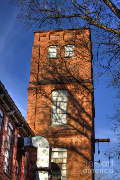 Photograph - Shadows Against Time Mary Leila Cotton Mill Greensboro Georgia by Reid Callaway
