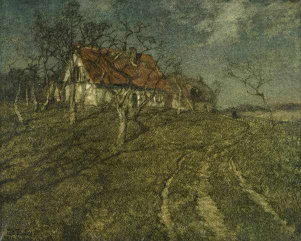 Painting - Shadows by Frits Thaulow