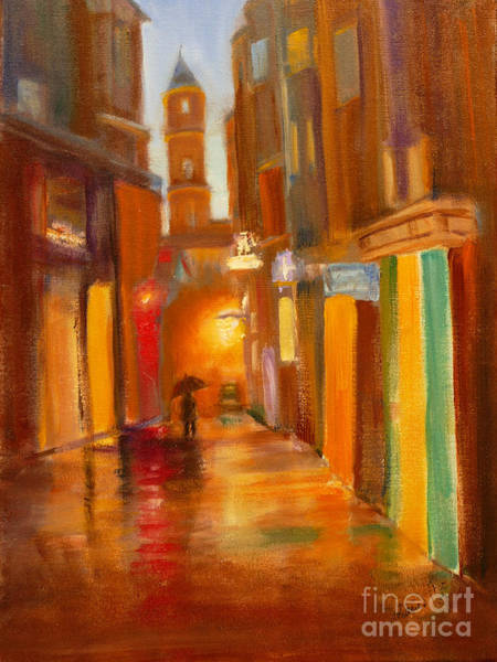 Back Door Painting - Shadows In The Rain Oil by Mohamed Hirji
