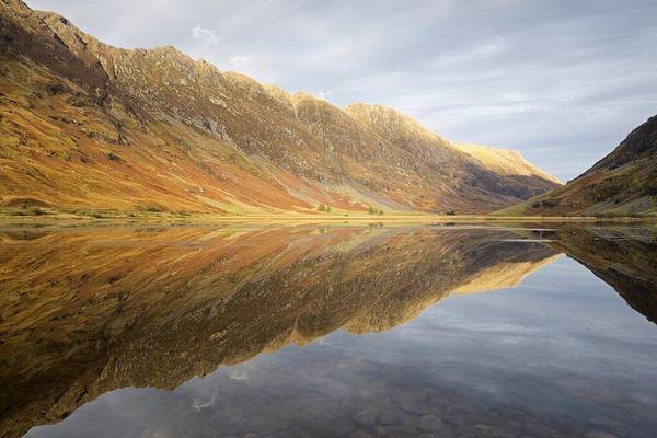 Photograph - Shadows, Light And Reflections On Loch Achtrocitan by Stephen Taylor