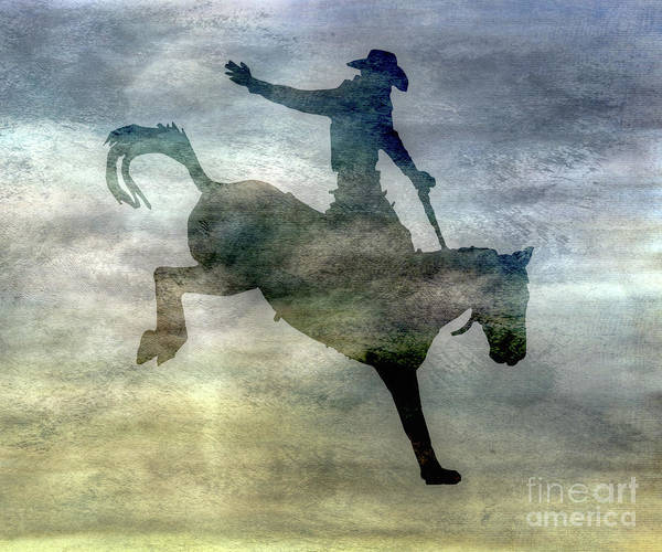 Bucking Bronco Digital Art - Shadows Of The Rodeo One by Randy Steele