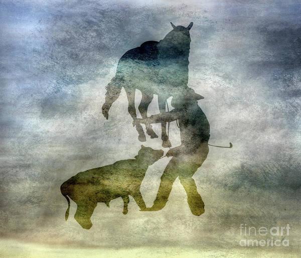 Bucking Bronco Digital Art - Shadows Of The Rodeo Three by Randy Steele