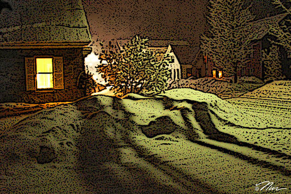 Photograph - Shadows Of Winters Night by Nancy Griswold