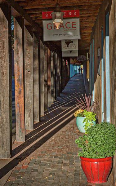 Photograph - Shadows On A Covered Sidewalk - Santa Fe #2 by Stuart Litoff