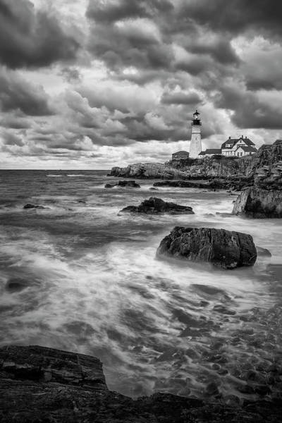 Photograph - Shadows On Cape Neddick by Jon Glaser
