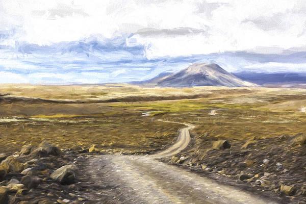 Iceland Digital Art - Shadow's On The Mountain IIi by Jon Glaser