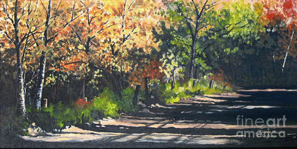 Painting - Shady Lane by Diane Ellingham