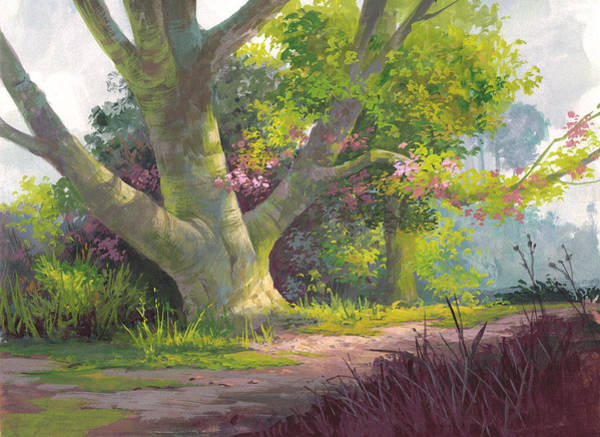 Wall Art - Painting - Shady Oasis by Michael Humphries