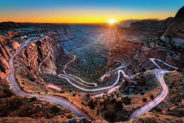 Photograph - Shafer Trail Sunrise by Michael Ash