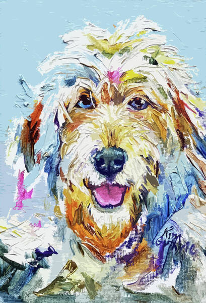 Wall Art - Painting - Shaggy Dog Painting by Kim Guthrie