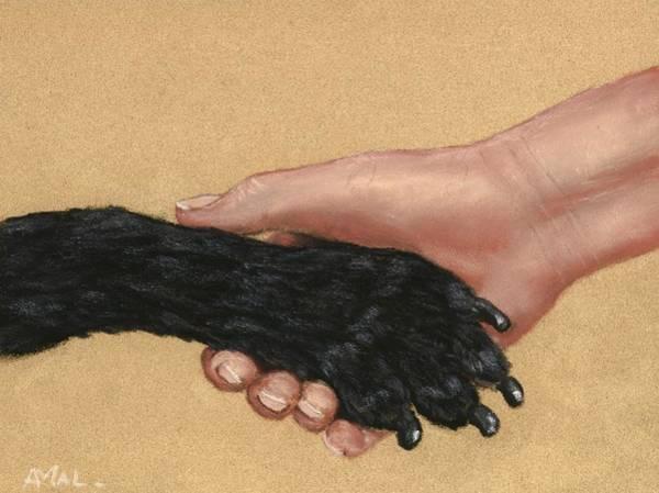 Painting - Shake Hands  by Anastasiya Malakhova