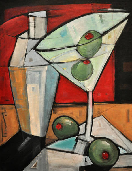 Martini Glasses Painting - Shaken Not Stirred by Tim Nyberg