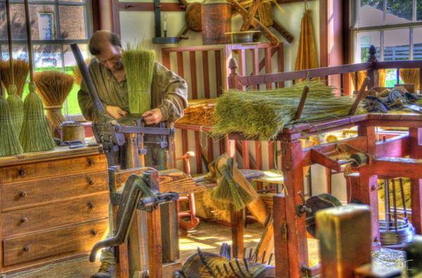 Photograph - Shaker Broom Maker by Sam Davis Johnson