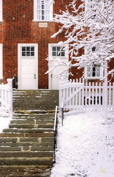 Photograph - Shaker Building In Winter by Sam Davis Johnson