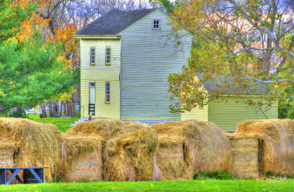 Photograph - Shaker Harvest Hay by Sam Davis Johnson