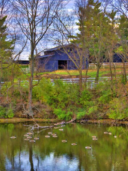 Photograph - Shaker Lake Geese by Sam Davis Johnson