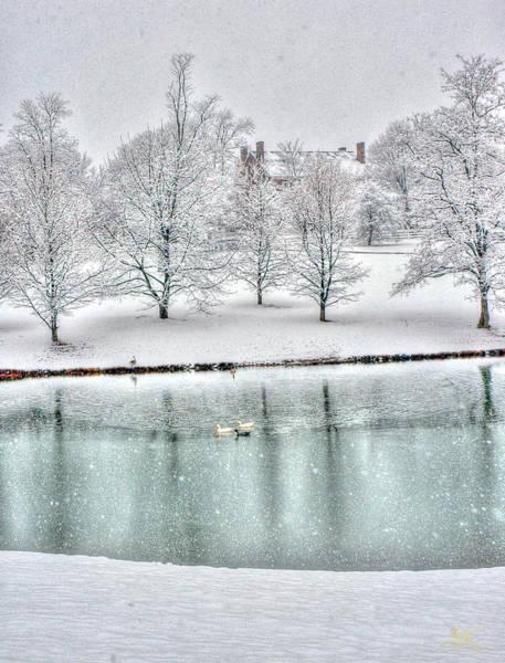 Photograph - Shaker Lake In Snow by Sam Davis Johnson