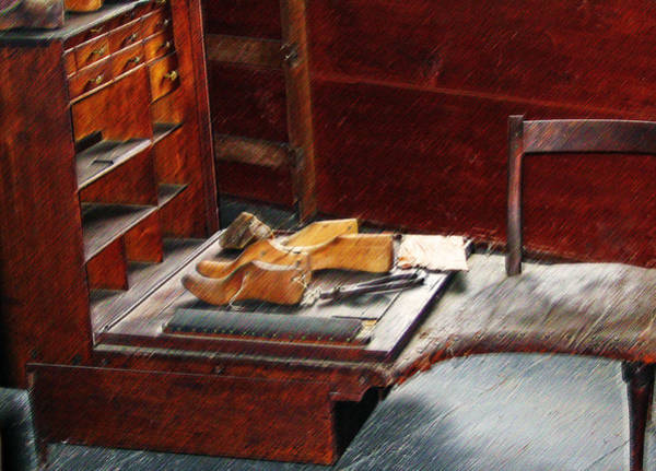 Chest Of Drawers Photograph - Shaker Shoe Shop by Steve Ohlsen