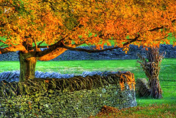 Photograph - Shaker Stone Fence 1 by Sam Davis Johnson