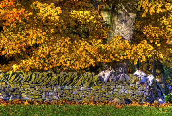 Photograph - Shaker Stone Fence 4 by Sam Davis Johnson
