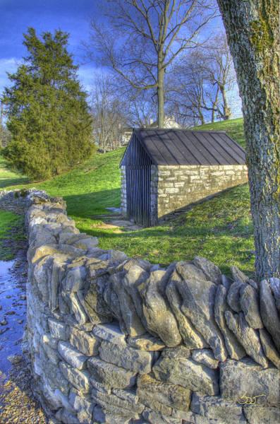 Photograph - Shaker Stone Fence 6 by Sam Davis Johnson