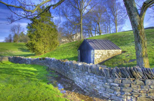 Photograph - Shaker Stone Wall 6 by Sam Davis Johnson