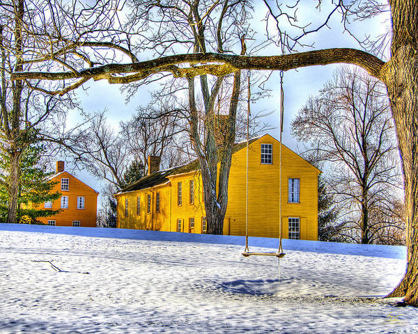 Photograph - Shaker Swing In Winter 2 by Sam Davis Johnson