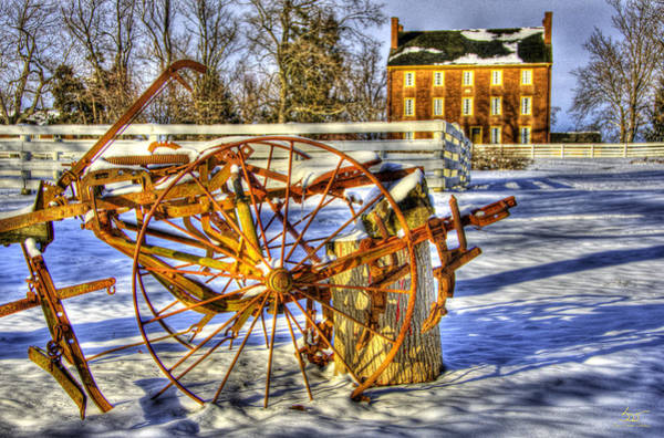 Photograph - Shaker Winter Plow by Sam Davis Johnson