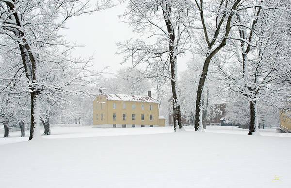 Photograph - Shaker Winter by Sam Davis Johnson