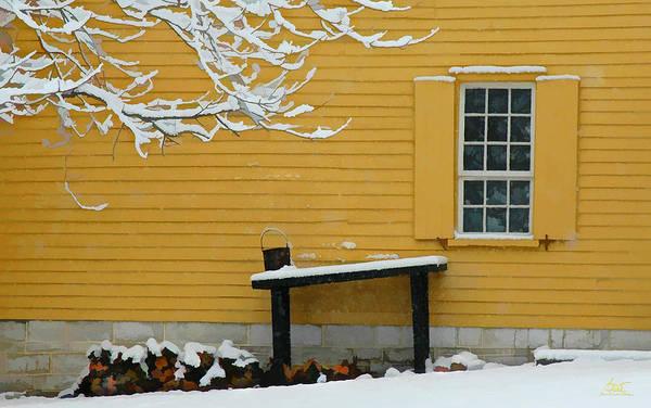 Photograph - Shaker Winter Woodpile by Sam Davis Johnson