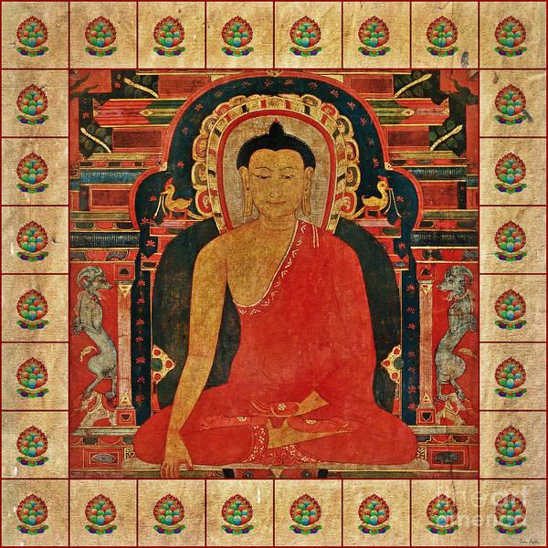 Mixed Media - Shakyamuni Buddha by Lita Kelley