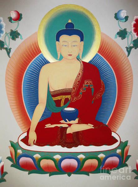 Thangka Painting - Shakyamuni Buddha  by Sergey Noskov