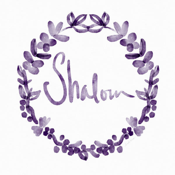 Wall Art - Painting - Shalom Wreath- Art By Linda Woods by Linda Woods