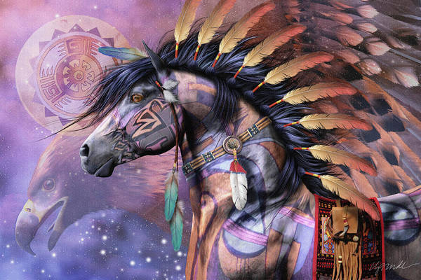 Horse Feathers Digital Art - Shaman by Laurie Prindle