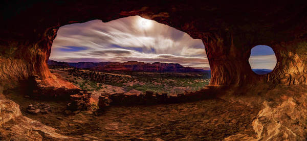 Photograph - Shaman's Cave By Moonlight by ABeautifulSky Photography by Bill Caldwell