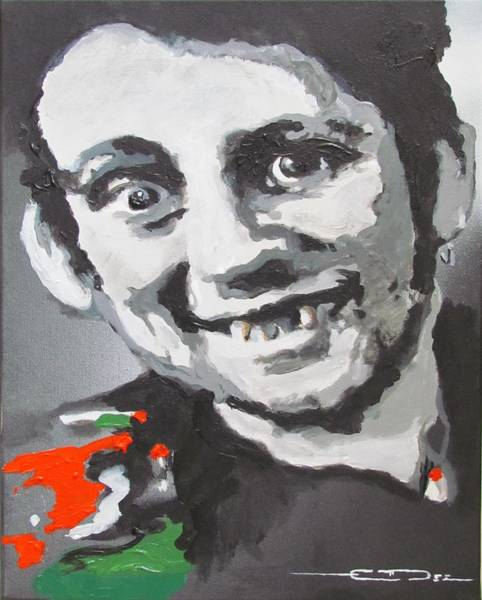The Clash Wall Art - Painting - Shane Macgowan Fairytale Of New York by Eric Dee