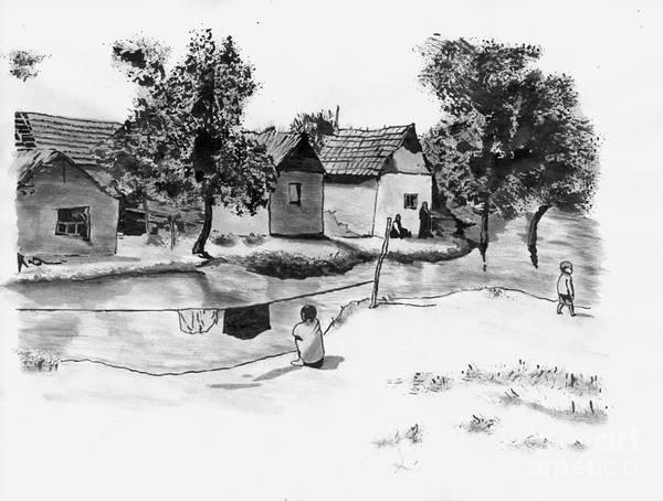Petroleum Drawing - Shanghai 1955. by Dragoslav Cupic