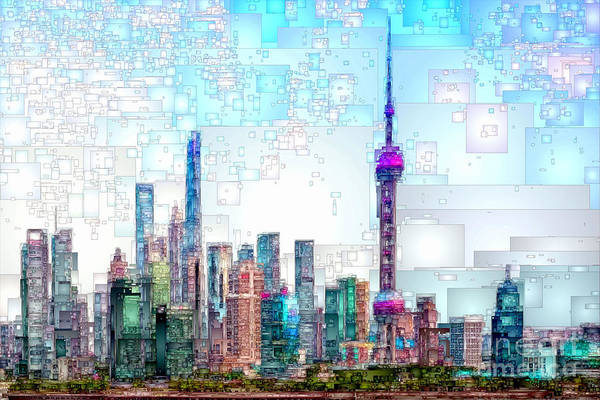 Digital Art - Shanghai, China by Rafael Salazar