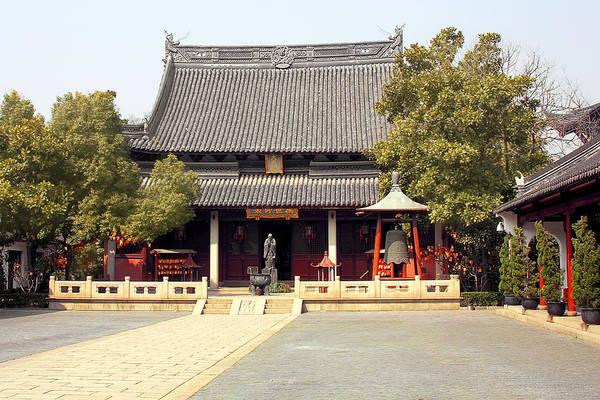Photograph - Shanghai Confucius Temple - Wen Miao - Main Temple Building by Christine Till
