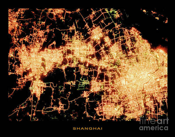 Wall Art - Photograph - Shanghai From Space by Delphimages Photo Creations