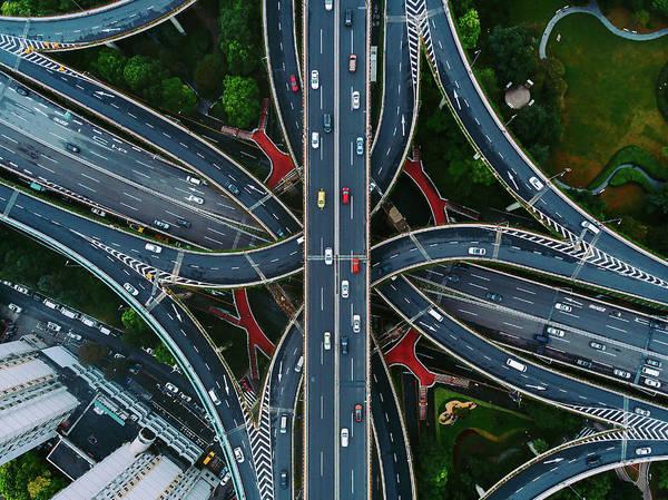 Photograph - Shanghai Traffic by Matt Shiffler