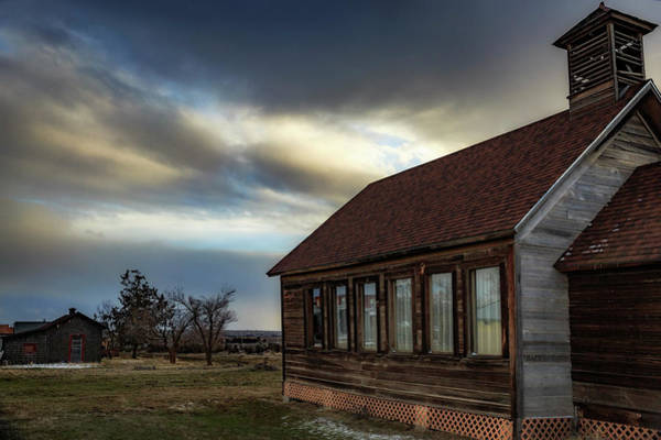 Wall Art - Photograph - Shaniko Schoolhouse by Cat Connor