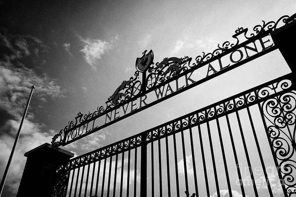 Wall Art - Photograph - Shankly Gates Anfield Stadium Liverpool England Uk by Joe Fox
