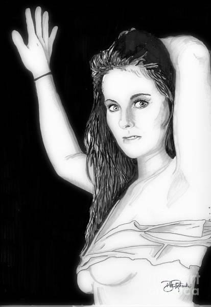 Drawing - Shanna by Bill Richards