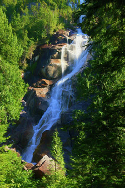 Photograph - Shannon Falls - Cascading Beauty by Ola Allen