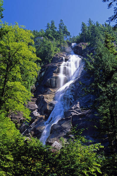 Shannon Falls Wall Art - Photograph - Shannon Falls, Sea To Sea Highway by Mike Grandmailson